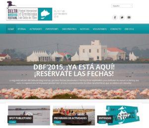 Captura de la Web Delta Birding Festival