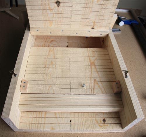 Caja nido para colonias de murciélagos o quirópteros Ref. CM11 interior