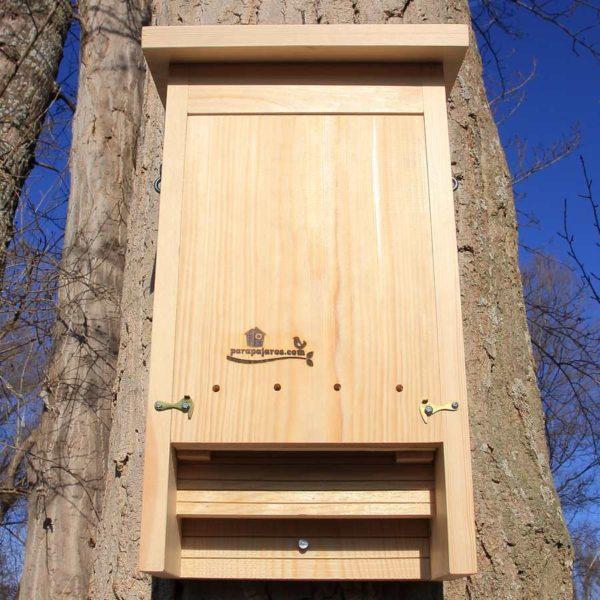 caja nido para murciélagos caixa niu per a ratpenats kabi kutxa saguzarra caixa de morcegos