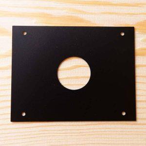 Protector anti pícidos para cajas nido, de acero inoxidable lacado negro diámetro 27 mm -protecció anti pícids