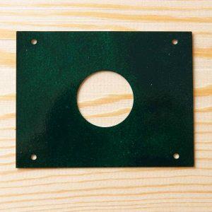 Protector anti pícidos para cajas nido, de acero inoxidable lacado verde díametro 32mm - protecció anti pícids