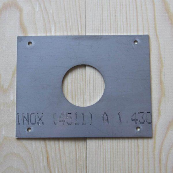 Reverso protector anti pícidos para cajas nido, de acero inoxidable lacado: verde díametro 32mm y negro diámetro 27 mm -protecció anti pícids