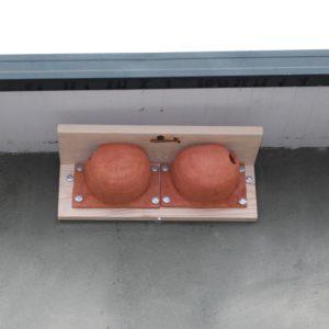 Caja nido Avión común,caixa niu Oreneta cuablanca, kabi kutxa Enara azpizuria, caixa de Andoriña do cu branco, Nest box for House martin