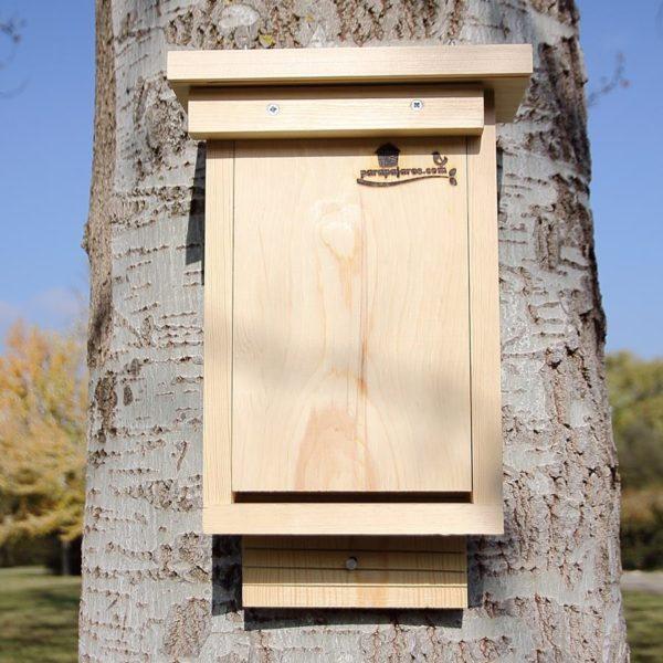 cajas nido para murciélagos, caixas de asentamento para os morcegos, caixes niu per a ratpenats, saguzarrak habia-kutxak